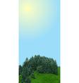 Landscape vertical banner vector