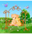 Spring bears vector