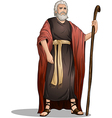 Moses from bible for passover vector