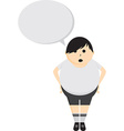 Person with speech bubble vector