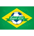 Brazilian football background vector