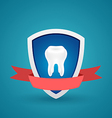 Icon protected human teeth vector