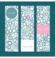 Colorful bubbles vertical banners set pattern vector