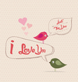 Valentines poster with bubble greeting card vector