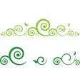 Swirl floral border vector