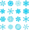 Abstract snowflakes set vector
