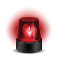 Red flashlight vector