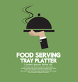 Food serving tray platter vector