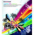Tropical music event disco flyer vector