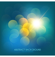 Bokeh lights vintage background vector
