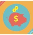 Piggy bank - saving money icon - vector