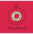 Ball with christmas wreath vector