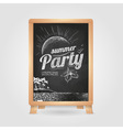 Summer party poster disco background vector