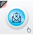 Mail delete icon envelope symbol message sign vector