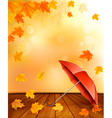 Retro autumn background with colorful leaves and vector