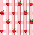 Background in strawberries vector