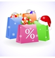 Christmas shopping bags vector