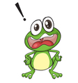 Exclamation cartoon frog vector