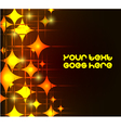 Modern background with neon orange stars eps10 vector