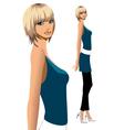 Stylish fashionable woman vector