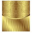 Vintage pattern golden royal design vector