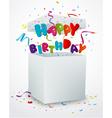 Birthday message box with confetti vector