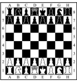 Chess board with chess pieces vector