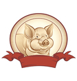 Graphical pig vector