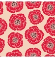 Seamless floral pattern with blooming poppies vector
