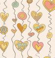 Heart on stripe vector