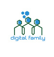 Digital family design template vector