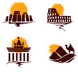 Landmarks of the world vector
