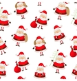 Seamless pattern set of santa clauses vector