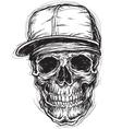 Sketchy skull with cap and bandanna vector