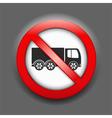 No trucks sign vector