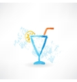 Cocktail grunge icon vector