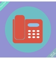 Icon of phone isolated - vector