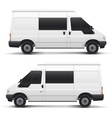 White auto car minibus for freight transportation vector