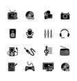 Multimedia computer icon set vector