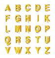Golden abc cut out of paper vector