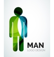 Abstract logo - man icon vector