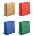 Coloured shopping bag vector