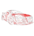 Chalk car design red vector