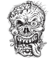 Sketchy zombie head vector