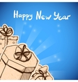 New year card concept vector