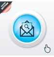 Mail search icon envelope symbol message sign vector