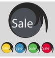 Sale tag icon for special offer set of colored vector