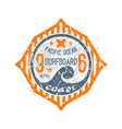 Surfing on wave pacific ocean emblem vector