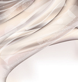Abstract wavy background with lighting effect vector