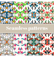Abstract multicolored seamless patterns set vector